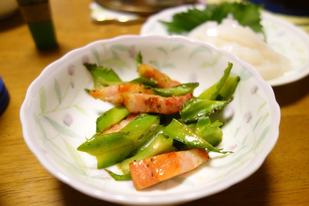 四角豆(シカクマメ)の炒め物